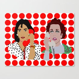 Almodovar is calling on the verge of a nervous breakdown Canvas Print