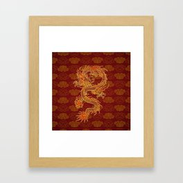 Traditional Chinese Red Dragon                                         Framed Art Print