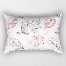 Leaves (reds) Rectangular Pillow