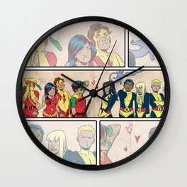 Kid Heroes Wall Clock