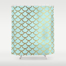 teal and gold shower curtain. Aqua Teal And Gold Foil MermaidScales  Mermaid Scales Shower Curtain Sparkle Curtains Society6