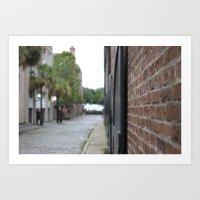 Street/Brick/Old Town/Ocean Art Print