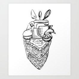 The Heart of a Baker Art Print