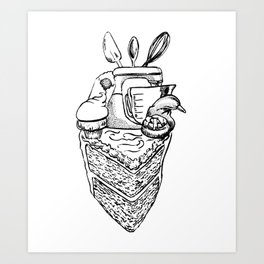 The Heart of a Baker Art Print