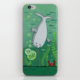 Narwhale Handstand iPhone Skin