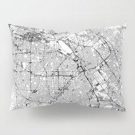 San Jose White Map Pillow Sham