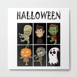 Halloween horror Metal Print