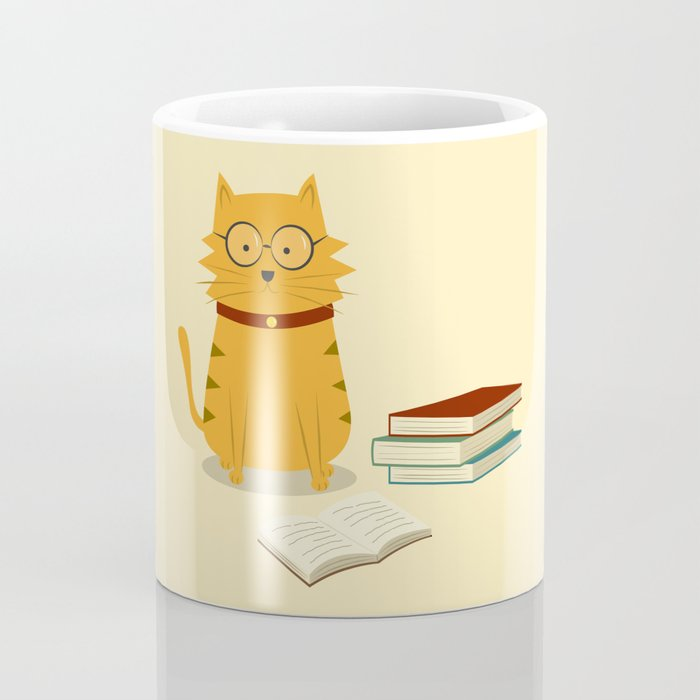 Nerdy Cat Coffee Mug