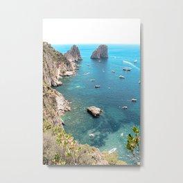 Faraglioni Rocks Island of Capri Italy Metal Print