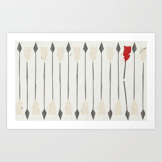 Broken Arrow Art Print