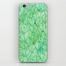 Green foliage iPhone Skin