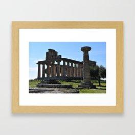paestum i templi Framed Art Print