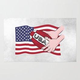 Rugby USA Flag Rug