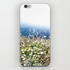 Flowers by the cliff iPhone & iPod Skin
