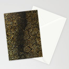Black Gold Snake Skin Stationery Cards