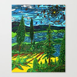 Perception of a Landscape Canvas Print