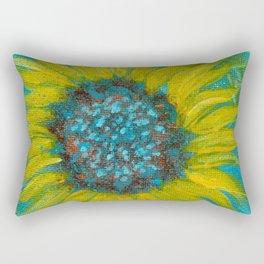 Sunflowers on Turquoise II Rectangular Pillow