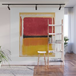 1949 Untitled (Violet, Black, Orange, Yellow on White and Red) by Mark Rothko Wall Mural