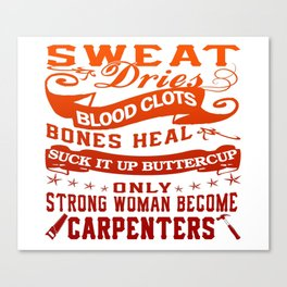 Carpenter Woman Canvas Print