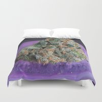 medical Duvet Covers featuring Jenny's Kush Medical Marijuana by BudProducts.us