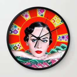 Idda Van Munster Pop Art Abstract 2 Wall Clock