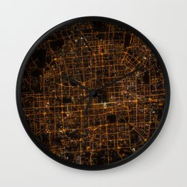Beijing from above Wall Clock