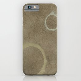 Two Circles - Modern Art - Abstract - California Cool - Popular Painterly - Law Of Attraction iPhone Case