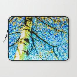 Autumn leaves sky background Laptop Sleeve