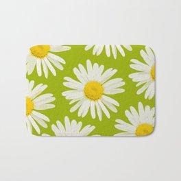 Daisies on a vivid green background - #Society6 #buyart Bath Mat