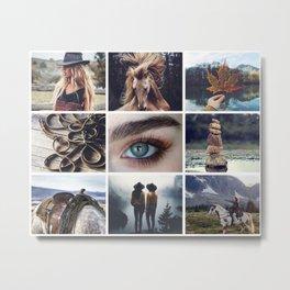 Canadian Wrangler Moodboard Metal Print