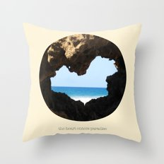 The Heart Enters Paradise Throw Pillow