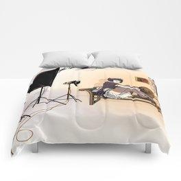 Studio Shoot (Maid Version) Comforters