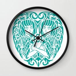gemini siam style Wall Clock