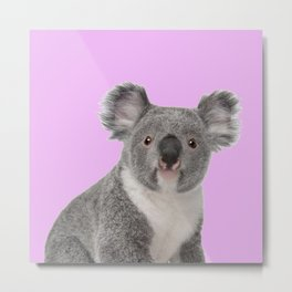 Pretty Cute Koala Metal Print