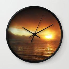 Smokey Sunset II Wall Clock