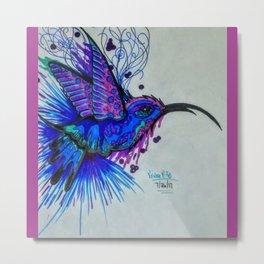 Royal Blue Hummingbird Metal Print