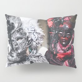 Couple of carnival masks in Venice Pillow Sham