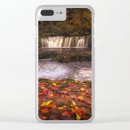 Sgwd Ddwli Isaf waterfalls South Wales Clear iPhone Case
