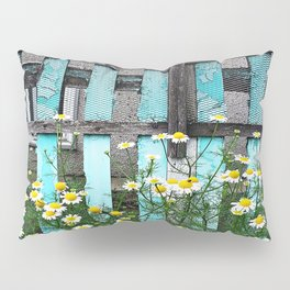 Fence and Flowers  Pillow Sham
