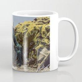 A cat and a fishing net Coffee Mug