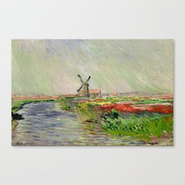 "Claude Monet ""Tulip field in Holland (Champ de tulipes en Hollande)"" Canvas Print"