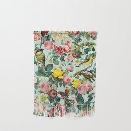 Floral and Birds III Wall Hanging
