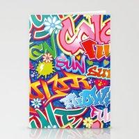 graffiti Stationery Cards featuring Graffiti by Helene Michau