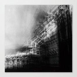 city in monochrome Canvas Print