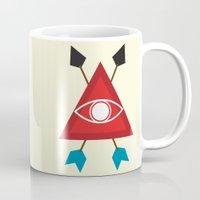 illuminati Mugs featuring Illuminati by Lucas de Souza