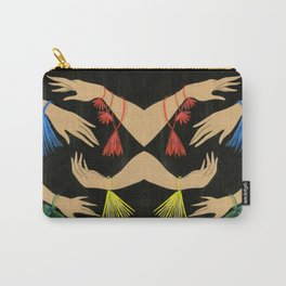 Tasseled Hands Carry-All Pouch