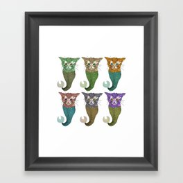 Cat Fish Framed Art Print