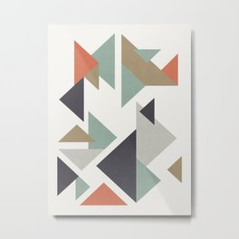 Composition of colored triangles Metal Print
