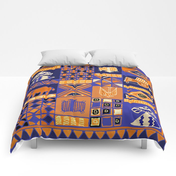 African Batik Collage Comforters