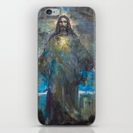 I AM THE LIGHT OF THE WORLD II iPhone Skin